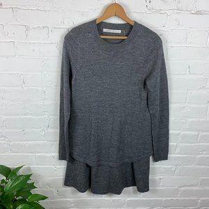 Susana Monaco Crew Neck Sweater Dress Gray Size S